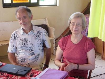 Le pasteur Jean-Luc Blanc et la pasteure Corina Combet Galland