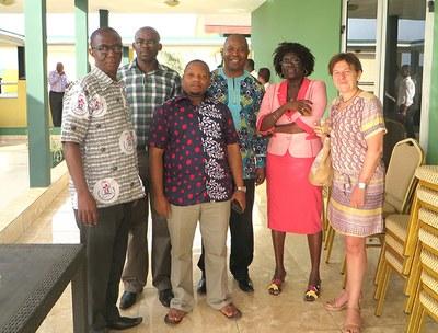 Dr Akorli, Dr Tshilab et Dr Zannou