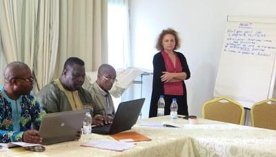 Dr Aroga, Dr Kpegba, Dr Tamfeu et pasteur Dentan