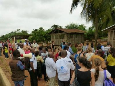 45. Un peu plus tard dans l'après midi, visite au Centre Songhai, un lieu pionnier en matièred'agriculture intégrée...