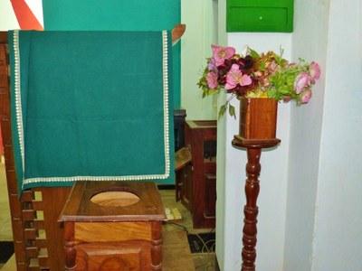 Tout est prêt dans le temple de l'UPAO pour accueillir la cérémonie.