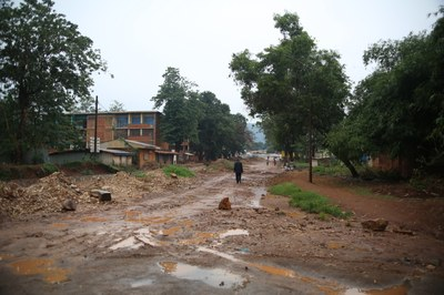 04) Vue d'une rue de Bangui, 2 avril