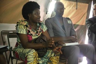 24) Membre du réseau des Femmes croyantes dans le camp de la force Sangaris, 7 avril