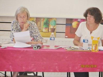 04. Corina Combet Galland, intervenante, professeur de Nouveau Testament, aux côtés d'Anne Laure Danet, du Défap.