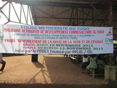 01) Le PMDCT « Programme Méthodiste de Développement Communautaire au Togo » est un Département de Développement créé en Octobre 1998 par l'Eglise Méthodiste du Togo.