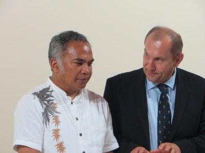 Le président de l'Église de Jésus-Christ à Madagascar et le président de la Cevaa