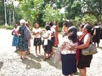 07 Arrivée à la paroisse de Saint Colomba pour le culte d'ouverture du séminaire