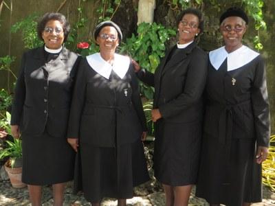 Les membres de la Lesotho Evangelical Church in Southern Africa (LECSA)