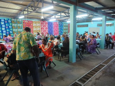 Accueil des participants (paroisse PAEA)