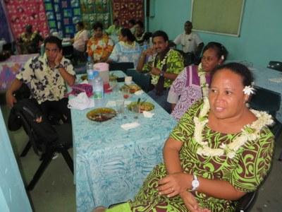 Accueil des participants (paroisse de PAEA)
