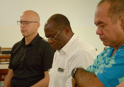 Mickaël Blanc,  Michel Lobo (EMU-CI), Stanley Tetuahiti (EPM)