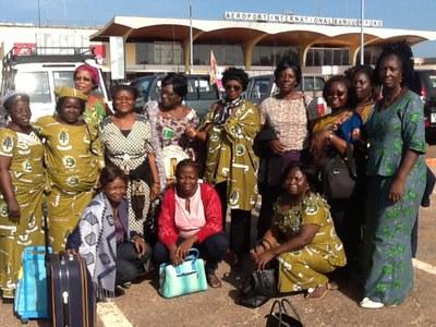 11 Août 2015    Les délégations bénino  togolaises à  l'aéroport de Cotonou