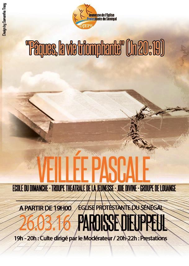 Affiche de la Veillée Pascale, DR