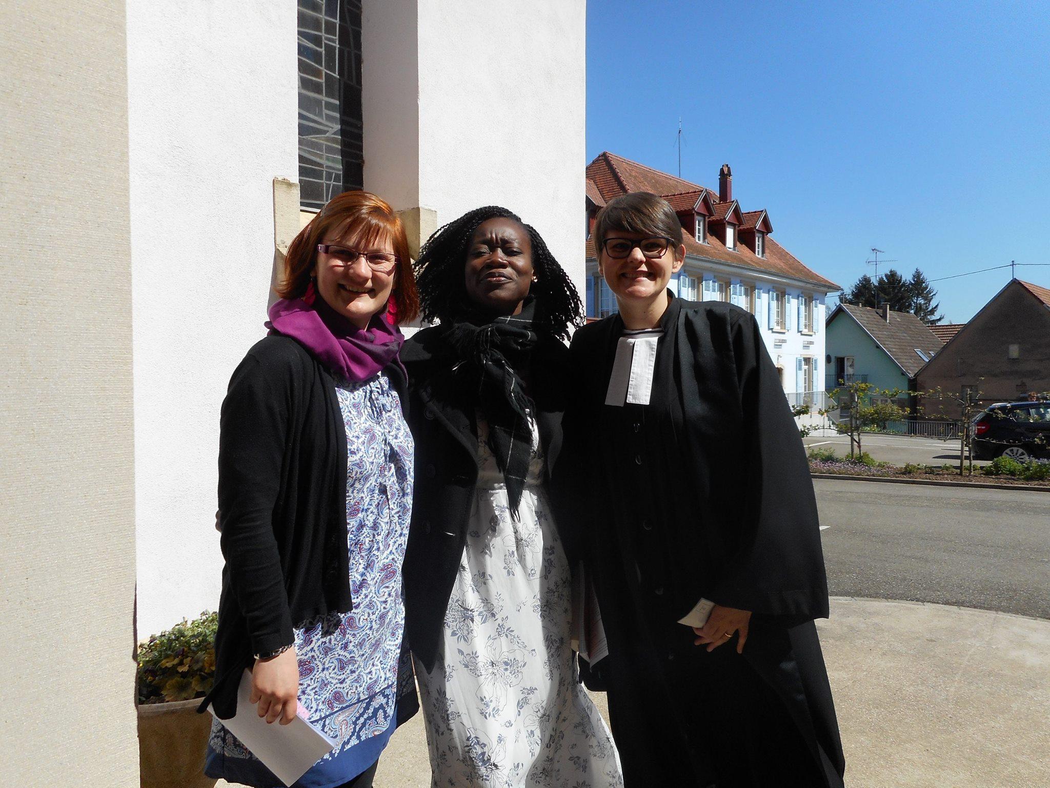 Alliance-Laure, Sophie Muhlbach et la Pasteure Agathe Douay, DR