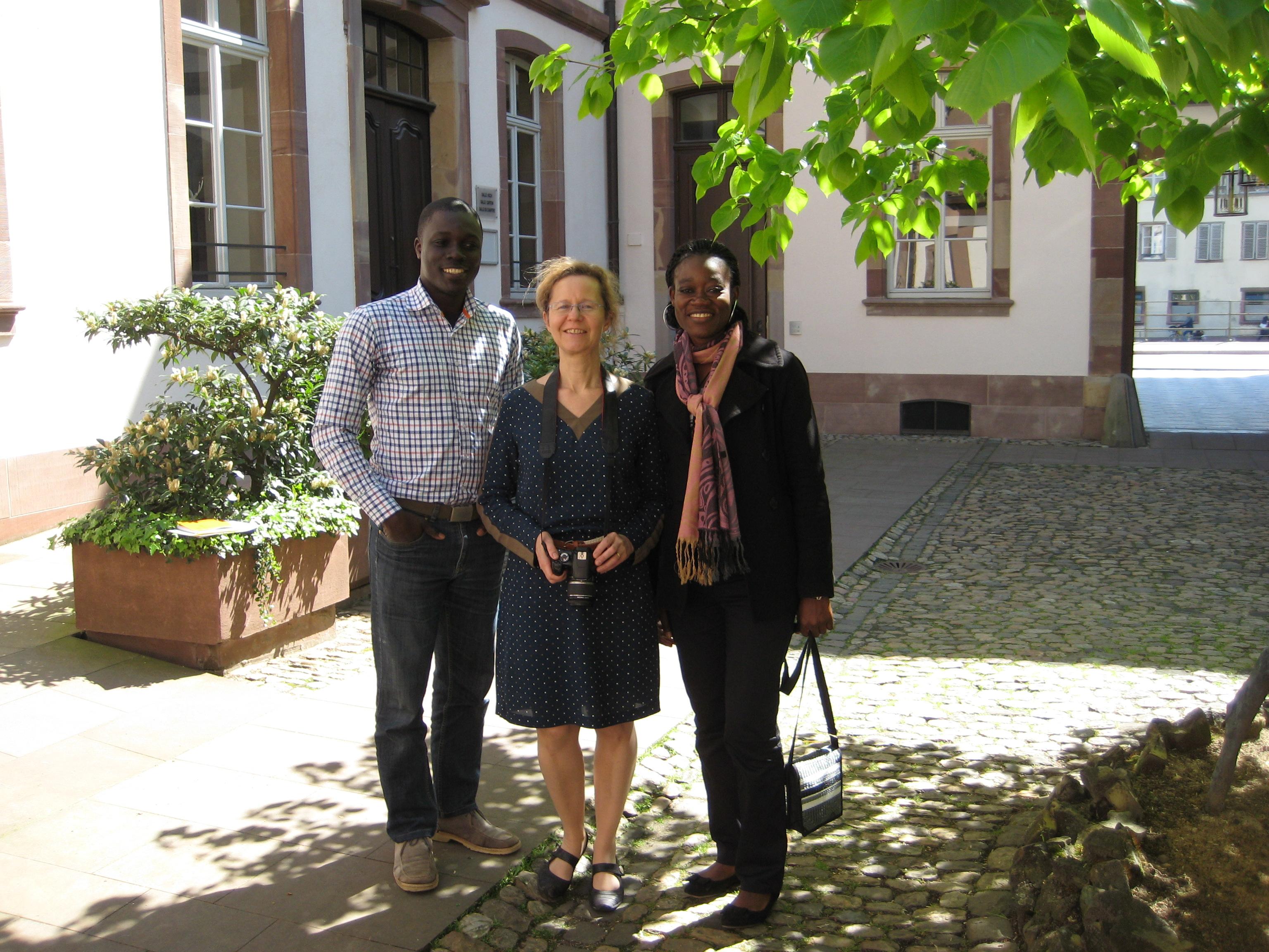Alliance-Laure et Georges, avec la vice-présidente de l'UEPAL (au milieu), DR
