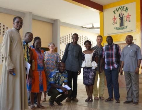 La délégation avec les responsables de jeunes de l'église catholique