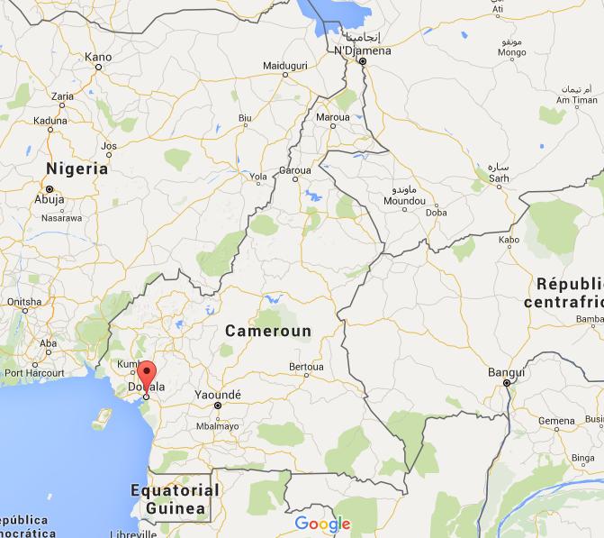 Carte du Cameroun, Source : Google Maps