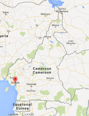 Carte Cameroun, source : Google Maps