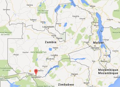 Carte de Zambie