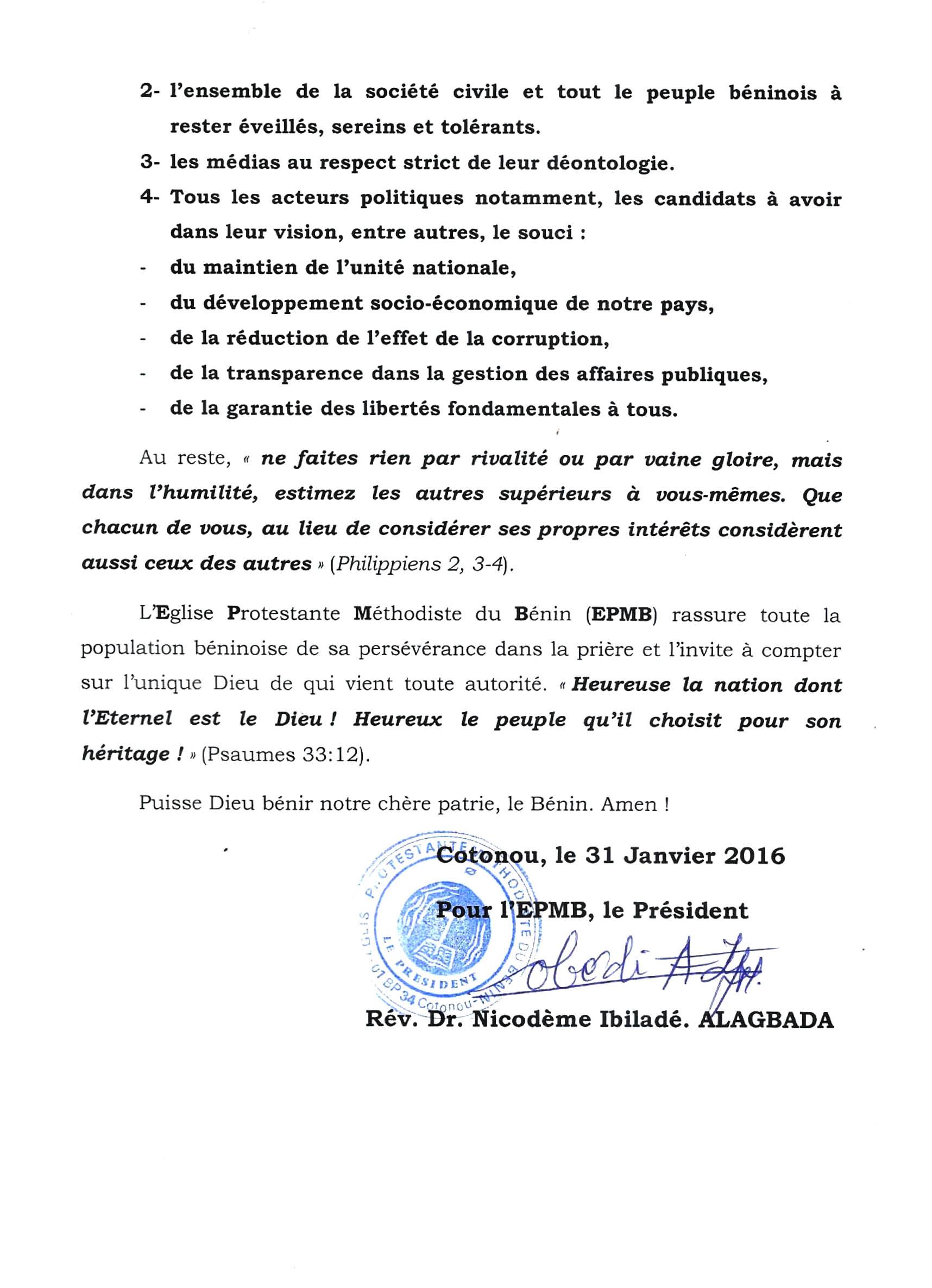 Déclaration du synode, 2, DR