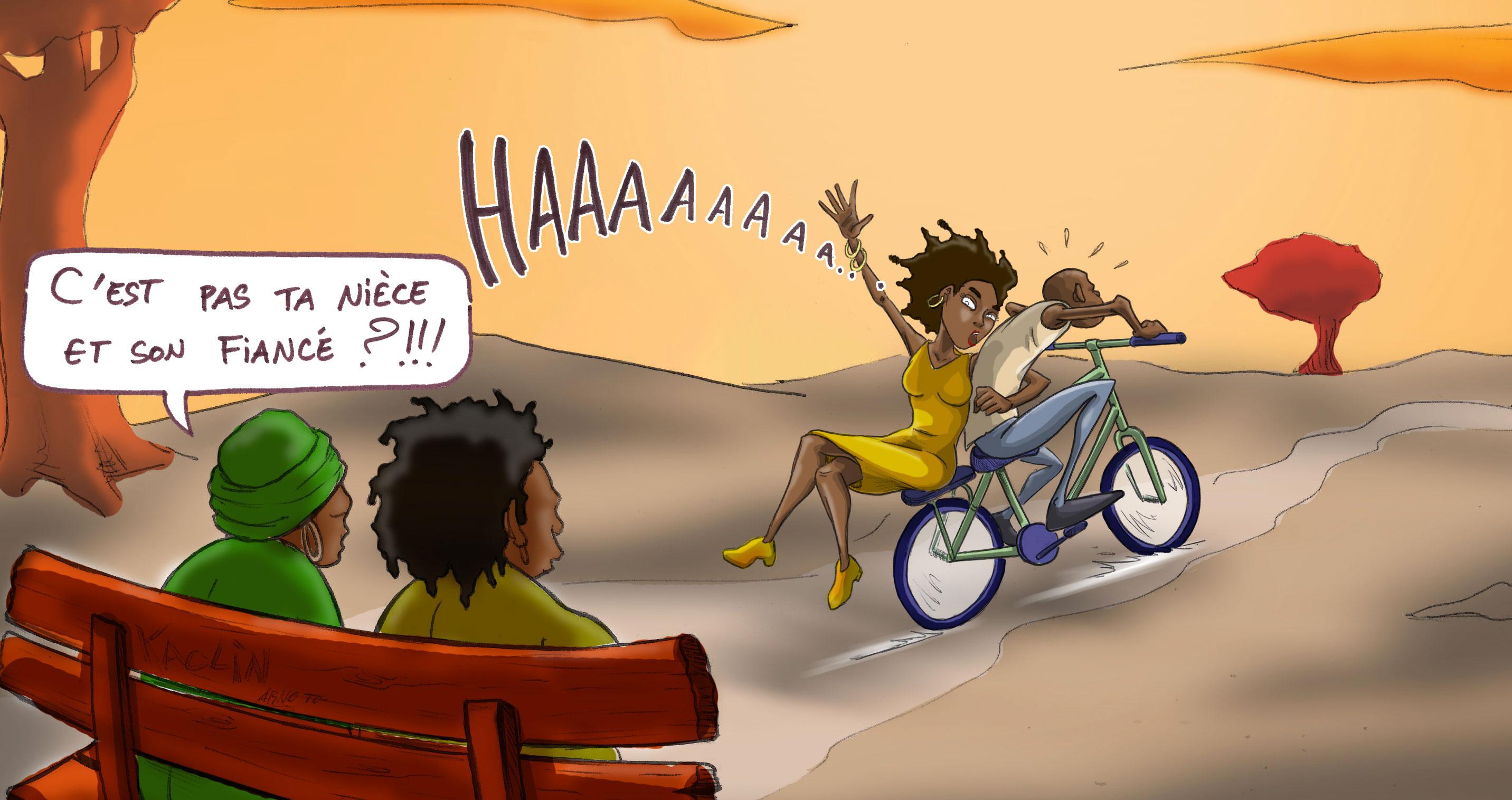 """Dessin illustrant l'article sur le """"rapt de la fiancée"""", DR"""