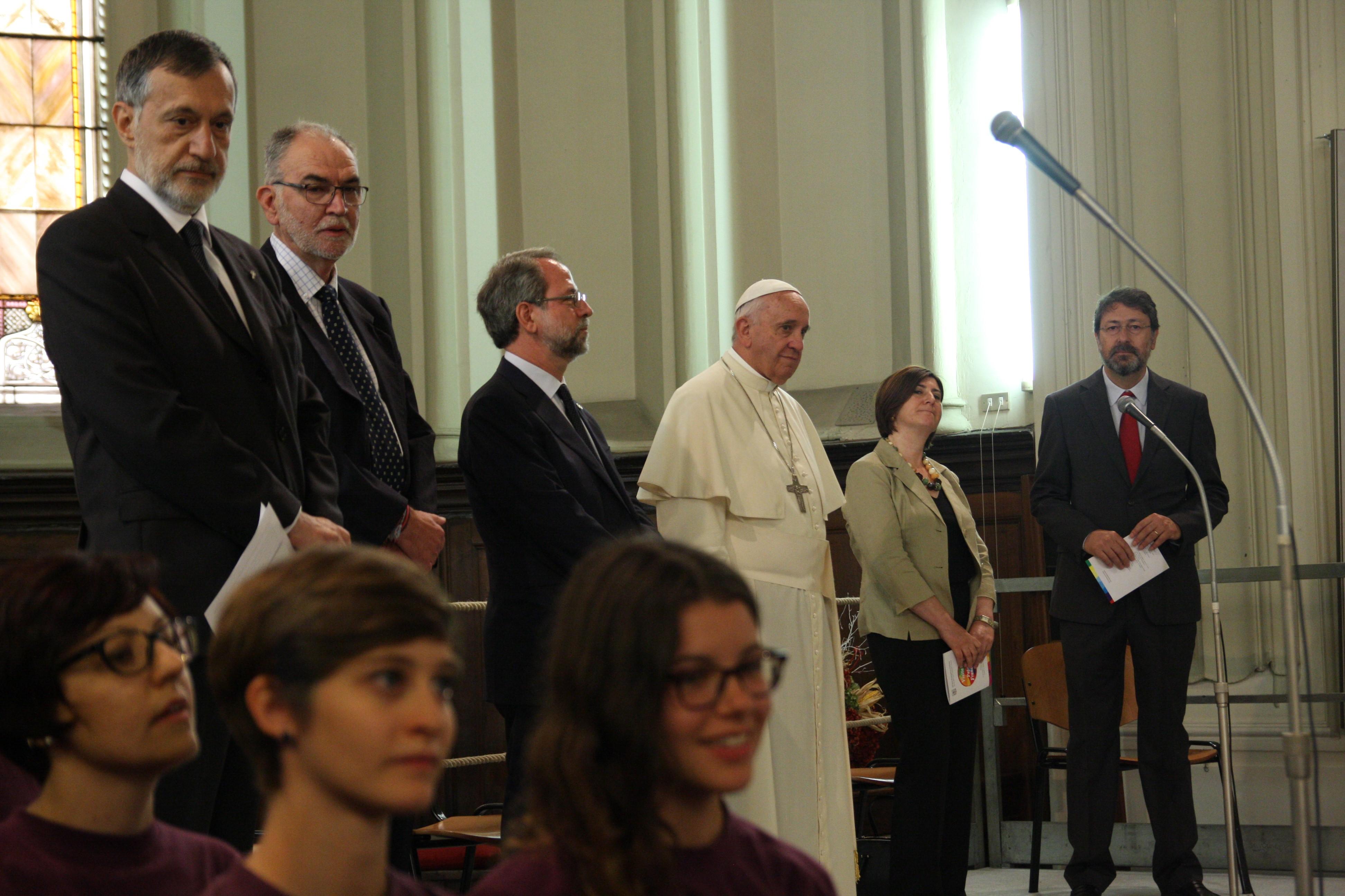 Visite du pape au temple vaudois de Turin (le 22 juin 2015). © Riforma/Pietro Romeo