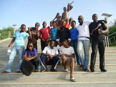 une photo d'archive d'un projet d'échange entre les jeunes du Sénégal et du Ghana