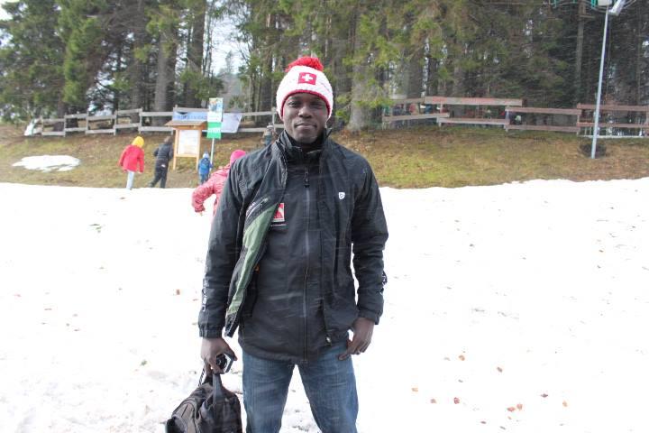 Georges dans le froid alsacien, DR