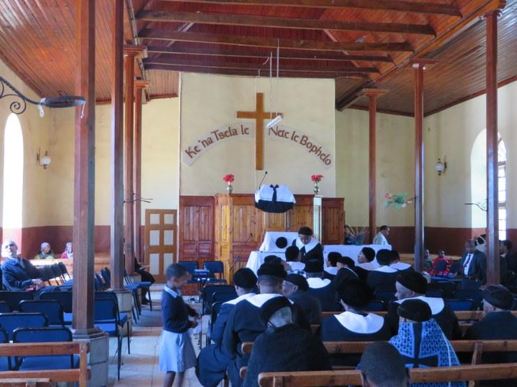 Moment intéressant et inattendu du séjour : culte en sésotho, la langue locale, DR