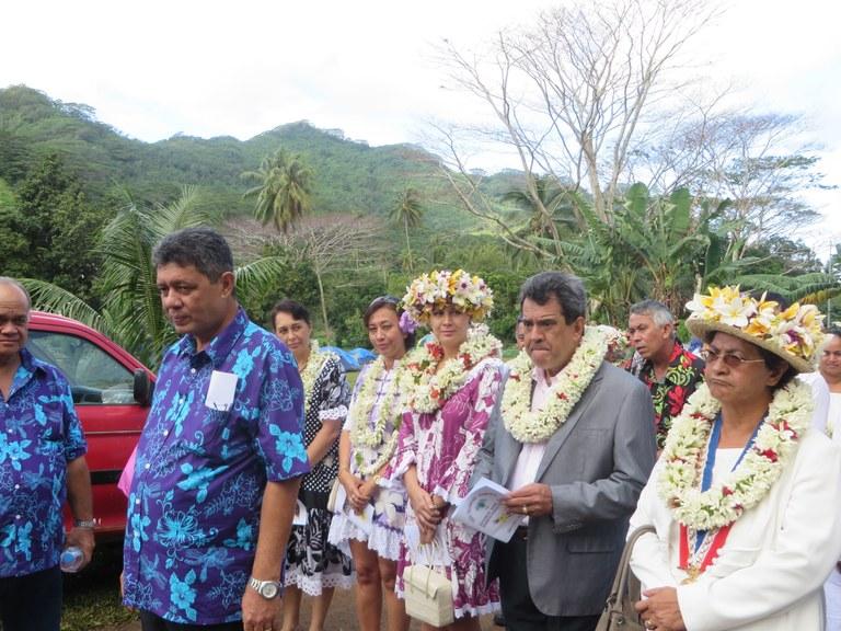 Membres du gouvernement venus assister à l'inauguration