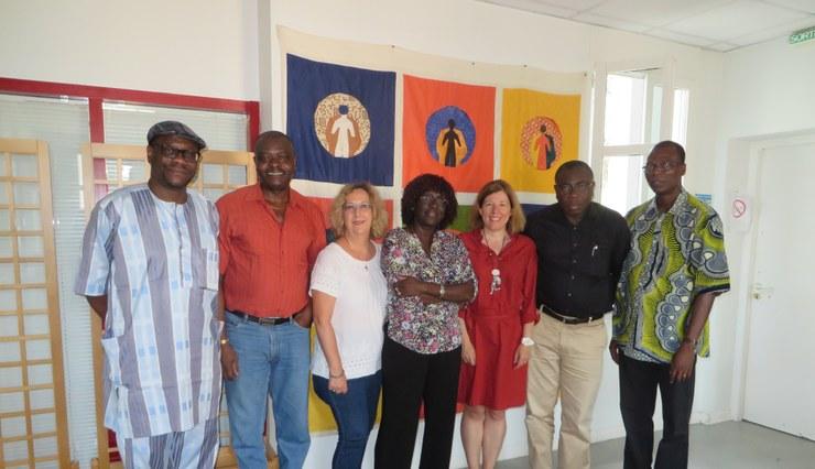 Photo comité santé et une partie de personnel Secrétariat Cevaa
