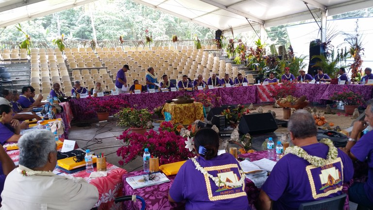 Photo du Synode de l'EPMaohi, juillet 2015