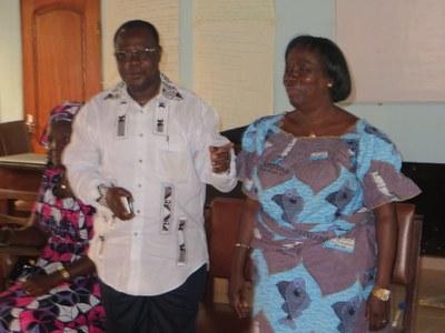 La visite des membres du bureau de l'Eglise Protestante Méthodiste du Bénin aux participantes ©